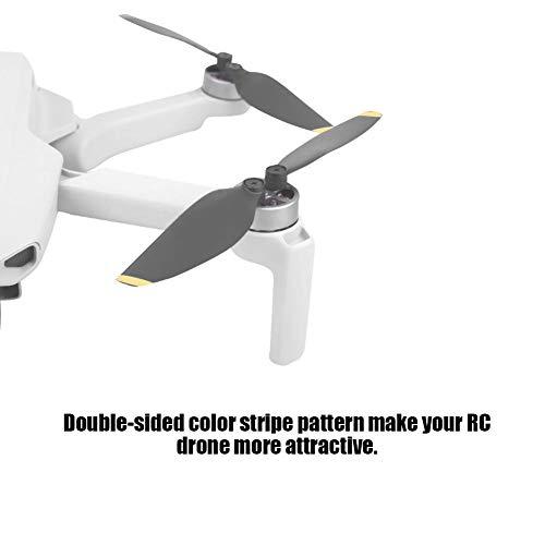2 Paar RC Drone Propeller, 4726F Drohnenpropeller Ersatzgeräuschreduzierung Kompatibel mit DJI Mavic Mini Drone( Gold + Schwarz )