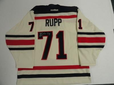 Mike Rupp Autographed Jersey - 2012 Winter Classic New York Rangers - Autographed NHL Jerseys
