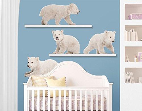 Wandtattoo No.642 Eisbären-Brüder Teddy Tiere Antarktis EIS Kinder (70x93 cm)