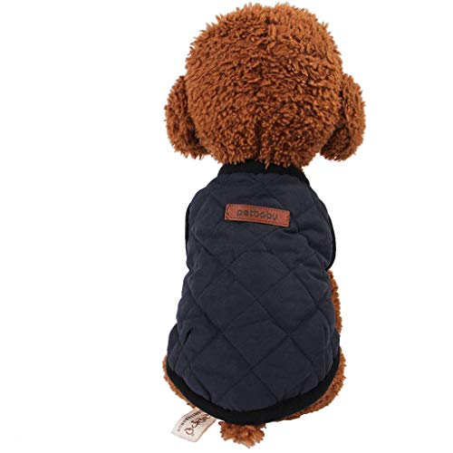 GorNorriss Thicken Dog Sweaters Dog Vest Winter Coat Warm Dog Apparel Cold Weather Dog Jacket, Solid Color Warm Sweatshirt, 3 Colors, XS-XXL