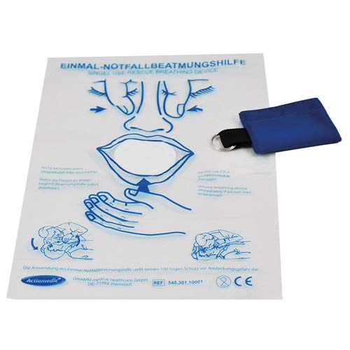 Actiomedic MediSave Notfall-Beatmungstuch mit Schlüsselanhänger