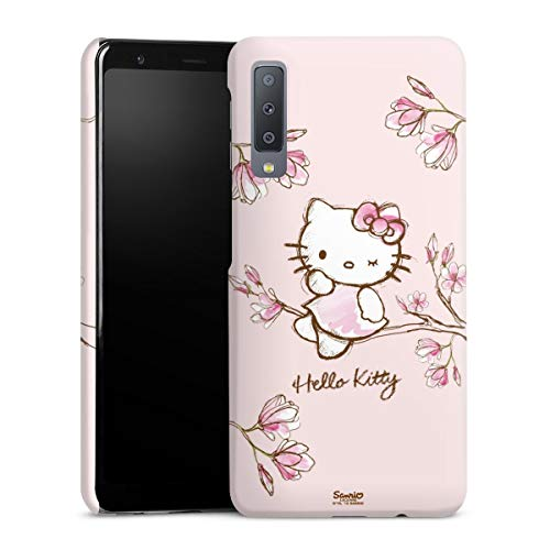 DeinDesign Premium Hülle kompatibel mit Samsung Galaxy A7 (2018) Smartphone Handyhülle Hülle matt Hello Kitty Fanartikel Hanami