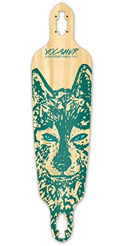 Yocaher Spirit Animal Drop Through Longboard Deck - Wolf