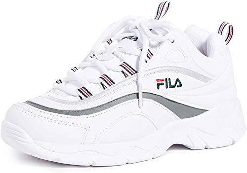 Fila Women's Ray White/Navy Metallic Silver Ankle-High Sneaker - 8M
