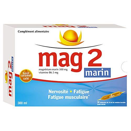 Mag 2 marin nervosité et fatigue - boîte de 30 ampoules de 10 ml