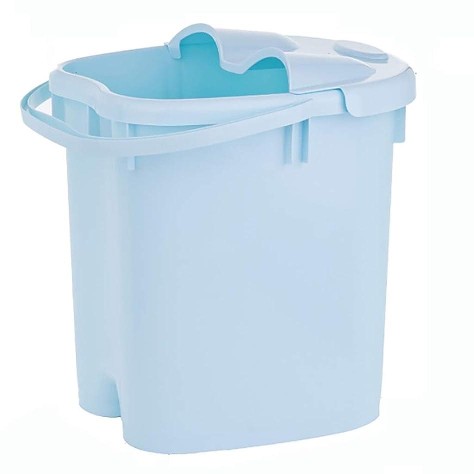 君主制カニトラブルフットバスバレル フットバスバレル、家庭用プラスチックフットバスマッサージ、デトックスバレルを浸漬足治療、(蓋付き)血液循環を促進 (Color : Blue, Size : 39.5*32.5*23.5cm)