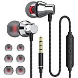 JKSWT-jukstg Earphones Noise Isolating in-Ear Headphones with Pure Sound and Powerful Bass with High Sensitivity Microphone and Volume Control