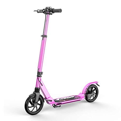 Scooter de pie Adultos Kick 2 ruedas con freno de mano, scooters plegables scooters cercanías con ruedas grandes, Kick unisex adulta scooters con el freno de mano, hasta 150 kg, no eléctricos Scooter