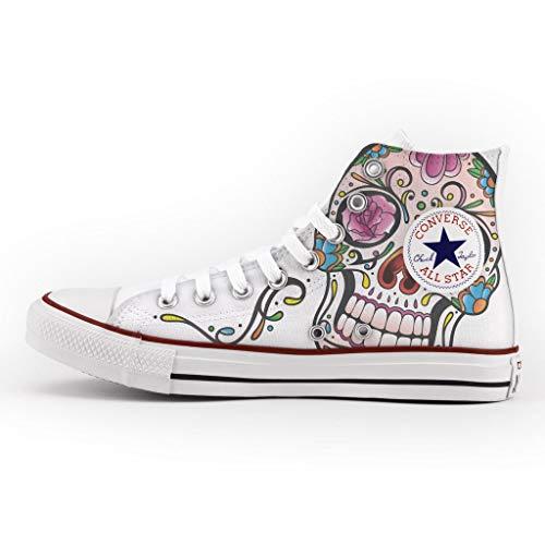 Zapatillas Personalizados e Impresos Sneakers (Hombre/Mujer) - Zapatos de artesanía - Stampa Mexican Skull
