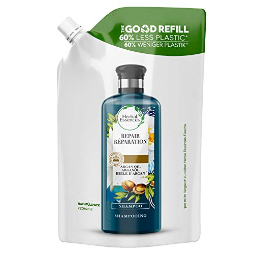 Herbal Essences Repara Champú Recambio Good Refill Con Un 60% Menos Plástico Y Con Aceite De Argán De Marruecos, 480 ml