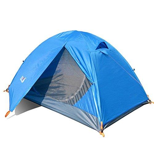 mât de la tente extérieure double vitrage vent poursuite contre la tempête de camping ensemble d'équipements sacs de couchage simples humidité pad LED