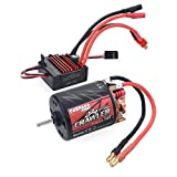 sdfghaWSEfdfghsfgh Carbon-Brushed Motor 11T, 13T, 16T, 20T + 60A Electronic Speed Controller-Set für RC Auto und LKW-Crawler