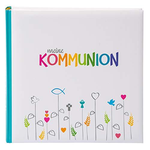 goldbuch Fotoalbum für die Kommunion, Regenbogen, 25x25 cm, 60 weiße Seiten, 4 Seiten Textvorspann, Kunstdruck, Weiß/Bunt, 03 028