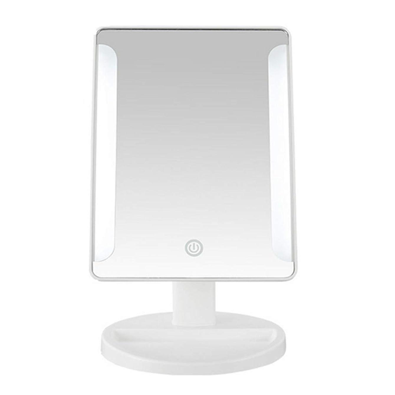 漏れダース請うLEDタッチスクリーンバニティミラー、180度回転できるポータブル卓上10X虫眼鏡は、シェービングとフェイシャルに使用できます