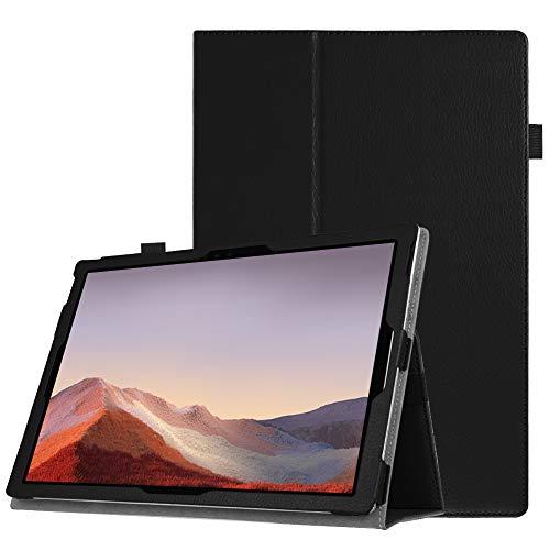 FINTIE Folio Funda para Microsoft Surface Pro 7 (2019)/Pro 6 (2018)/Pro 5/Pro 4/Pro 3 - Slim Fit Carcasa con Función de Soporte Compatible con Teclado Type Cover, Negro