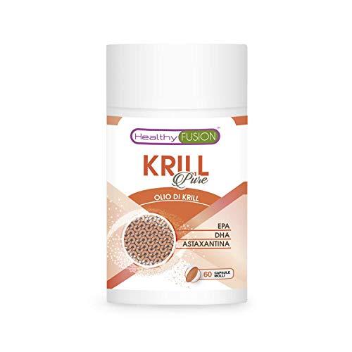 Olio di krill + EPA + DHA + astaxantina naturale | Migliora e controlla il colesterolo e i trigliceridi | Combatte lo stress ossidativo | Omega 3 da puro olio di krill | 60 caps