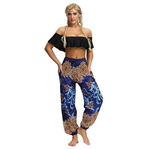 Sayla Pantalones Cortos Leggings Mujeres Verano Fitness Deporte Elásticos Thai Harem Lady Pantalones Smocked Cintura Boho Festival Hippy Yoga Rayon Baggy Yoga