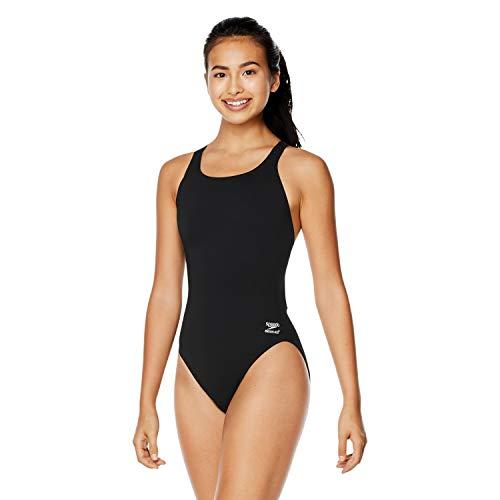 Speedo Women's Swimsuit One Piece Endurance+ Super Pro Solid Adult Speedo Black, 42
