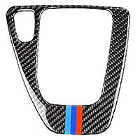 車の装飾 BMW 3シリーズE90 E92 2006-2011トゥルーカーボンファイバーヘッドライトの眉毛まぶたカバードアハンドルボウルカバー変速コントロールパネルカバーに アクセサリー (Color : Model C LHD)
