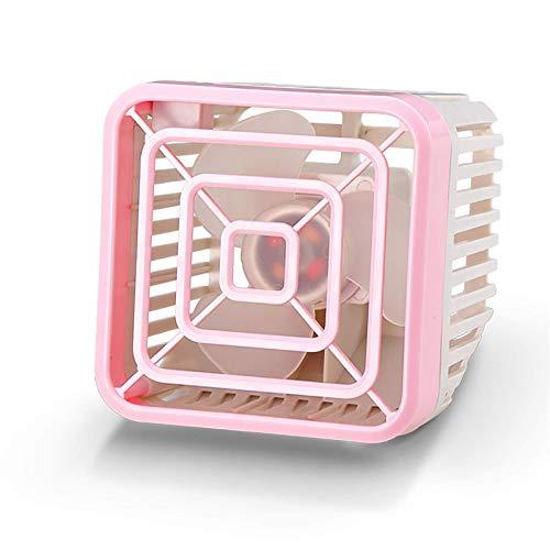QFWM Mini ventilador USB portátil, pequeño ventilador eléctrico, silenciador, oficina, escritorio, enchufable, luz nocturna, para el hogar, oficina, oficina, oficina, (tamaño: pequeño; color: rosa)