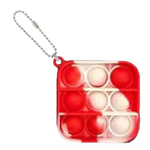 Exuberia Pu-sh Up Zappeln Spielzeug Schlüsselbund, Pu-sh Bubble Fidget Sensory Toy Pop It Fidget Toy Pu-sh Pop Bubble Sensory Fidget Toy Stress Relief Spielzeug Antistress Spielzeug