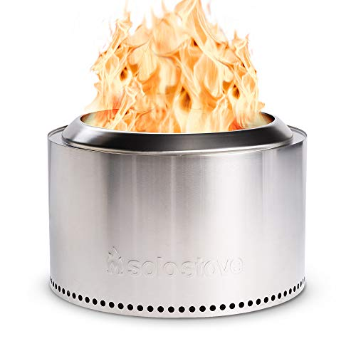 """Solo Stove 27"""" Yukon Fire Pit Stainless Steel Smokeless Outdoor Fire Pit Great for S'Mores and Hot Dogs"""