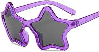 feiren - Street beat Moda Personalidad Cinco Puntas Estrella Niños Gafas De Sol Niña Niño Precioso Color Tinted Marco Plástico Niño Gafas De Sol