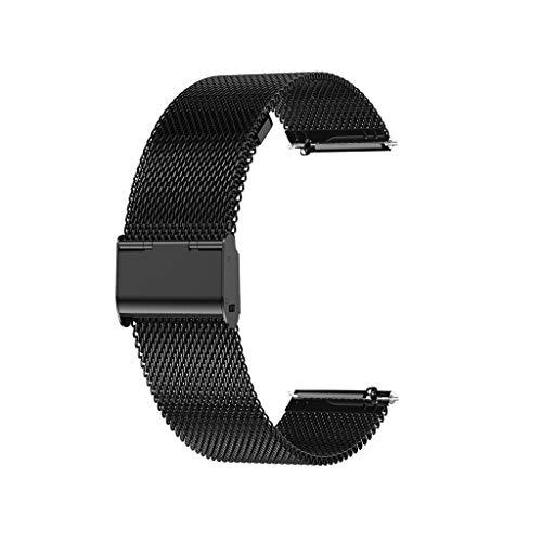 Lomelomme Edelstahl Armband Uhrenarmband Kompatibel für P8 / DT35, Smartwatch Ersatzarmband Luxus Metall Uhrenarmband mit Schnellverschluss 20mm