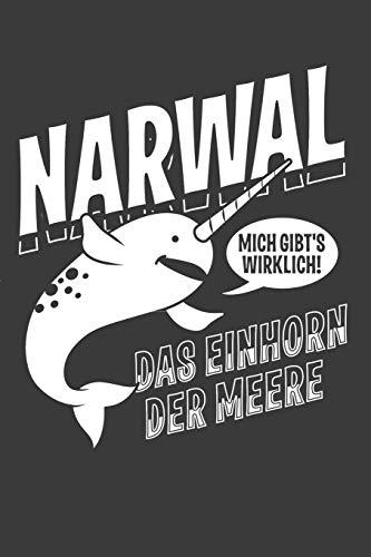 Narwal das Einhorn der Meere: Liniertes DinA 5 Notizbuch für Kinder Narwal-Fans Tierfreunde und Meerestier-Liebhaber Notizheft