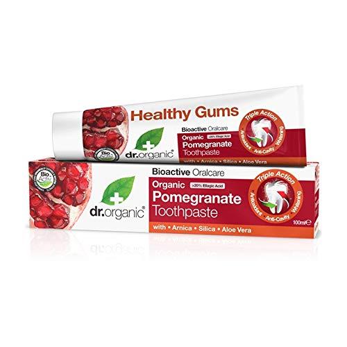 Dr Organic tandpasta pomegranaat 100 ml, prijs / 100 ml: 6,95 EUR