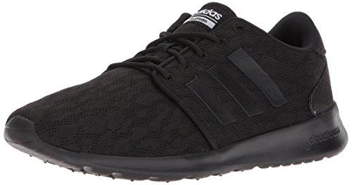 adidas Women's CF QT Racer W Sneaker, Core Black, Core Black,White, 9 M US