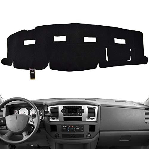 HanLanKa Black Carpet Dash Mat Compatible with 2002-2005 Dodge Ram 1500 2003-2005 2500-3500,Custom Fit Dash Cover,Easy Installation Dashboard Cover