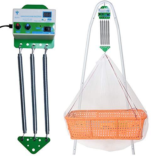 Feder für Federwiege, Babyschaukel Elektrisch Automatisch mit Timing-Funktion, Schwingfeder für die Baby Federwiege, Babyhängematte, Kein Geräusch, Befreie deine Hände, Bis 15kg von TZUTOGETHER