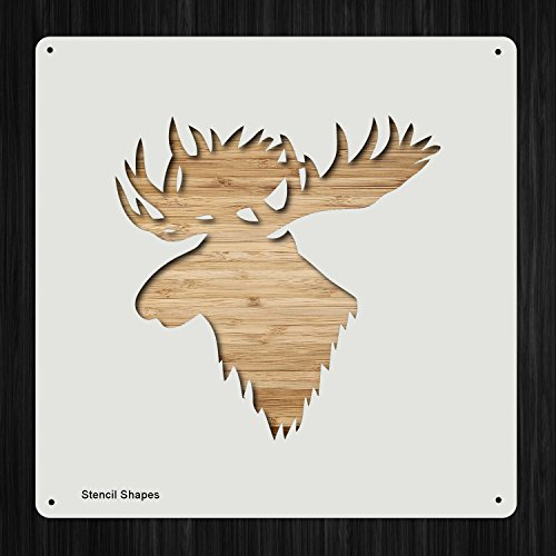 Moose Head Plastic Mylar Stencil for Painting, Walls and Crafts, Item 1321719