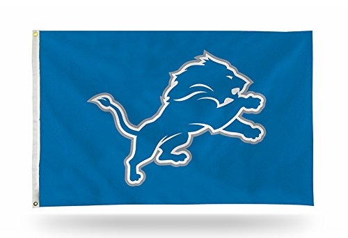 NFL Detroit Lions 3-Foot by 5-Foot Single Sided Banner Flag with Grommets