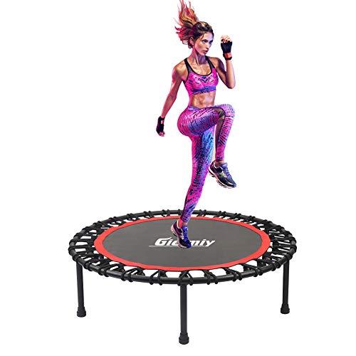 Gielmiy - Mini trampolino da 140 cm, per interni e adulti, con sistema di corda elastica coperta, limite massimo 149,7 kg