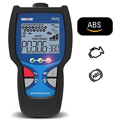 INNOVA Lector de códigos de Motor 3020d con ABS (Frenos de Freno), DTC Gravedad, diagnóstico de…