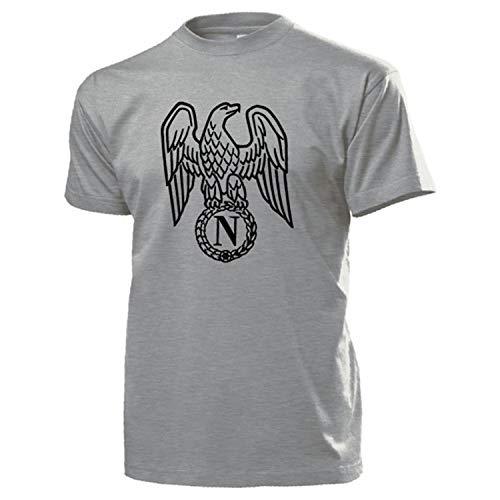 Copytec Napoleón Bonaparte Águila Emblema Escudo Nadadores Logo Kaiser Francia General–Camiseta # 16994 Gris XX-Large