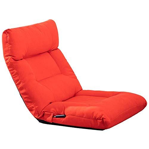 YLLN Gepolsterter Bodenstuhl Rückenlehne 14-Fach verstellbar Lazy Kissen Computerstuhl Geeignet für Schlafzimmer Wohnzimmer Schlafsaal Lagergewicht 120 kg 120x60x15cm (Farbe: Rot)