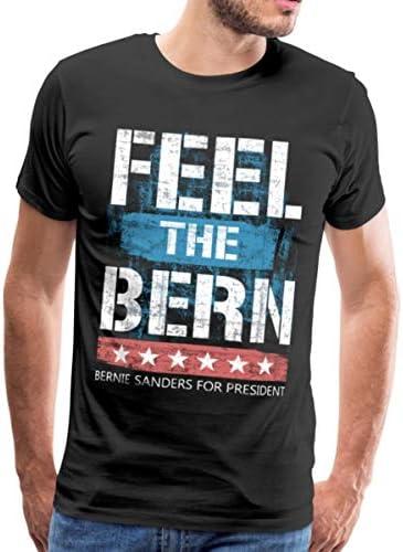 Feel The Bern Bernie Sanders for President Men s Premium T Shirt 4XL Black product image