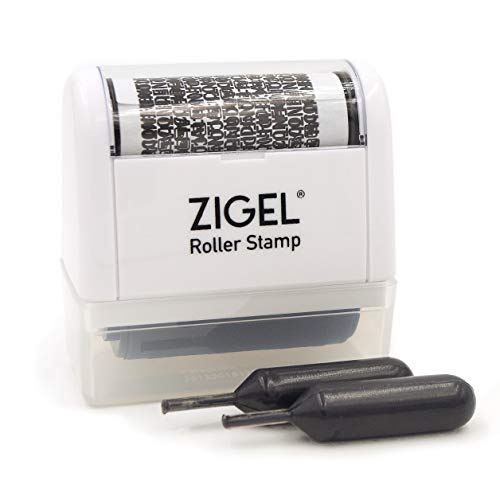ZIGEL Identity Theft Protection Stamp - Roller Stamp with Two...