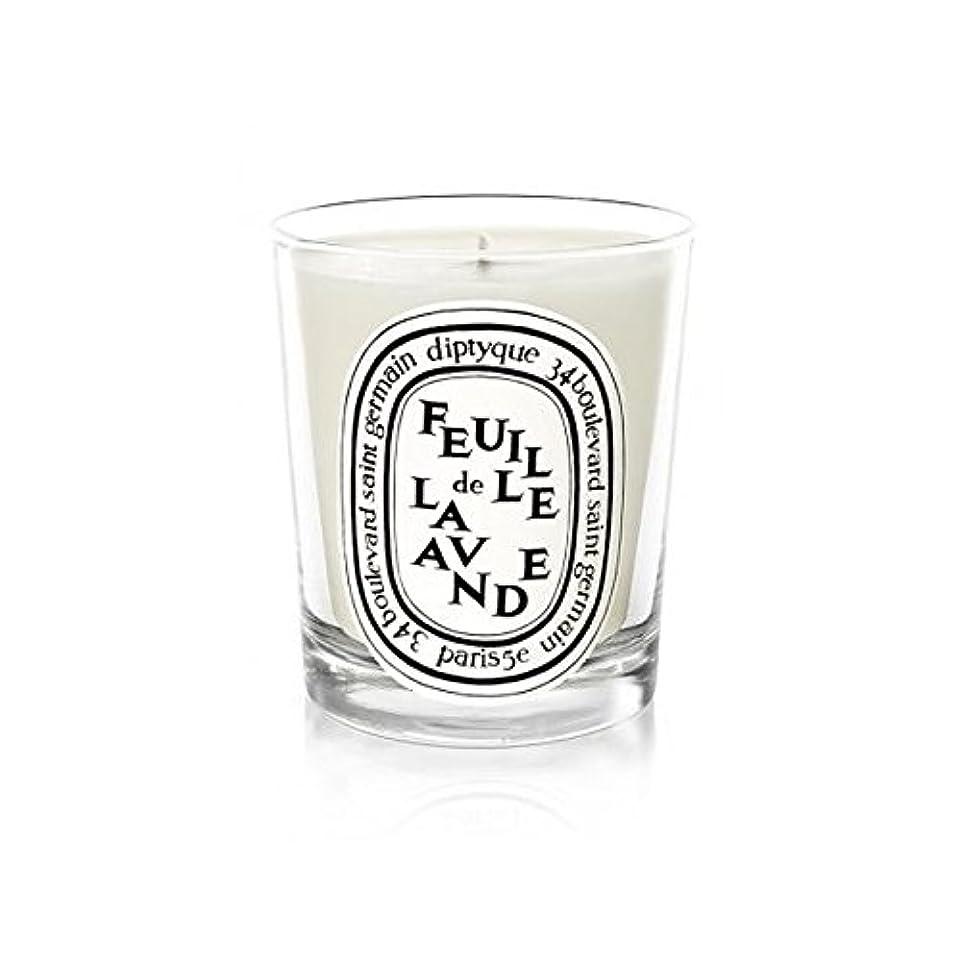 パースブラックボロウ時計教育学Diptyque Candle Feuille De Lavande / Lavender Leaf 190g (Pack of 6) - DiptyqueのキャンドルFeuilleデラバンデ/ラベンダーの葉190グラム (x6) [並行輸入品]