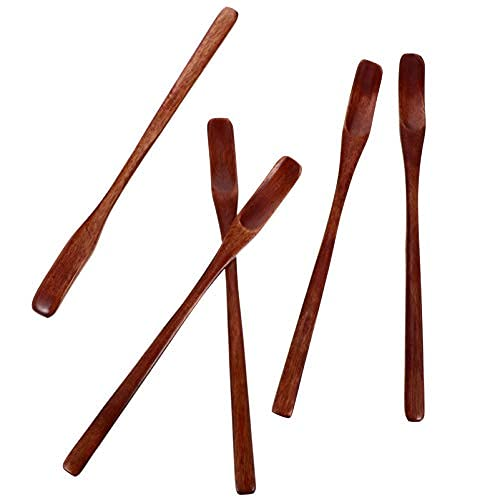 5pcs Wood Honey Stirring Stick Long Handle Wooden iced Tea Coffee Spoons Cocktail Spoons Scoops for Coffee Tea…