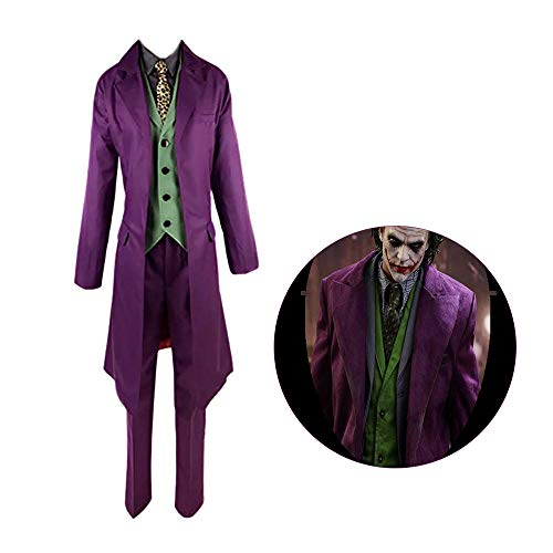 Danny Queen Hombres Mujeres Caballero Oscuro Disfraces Joker Cosplay Abrigo...
