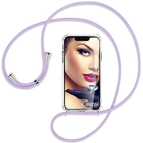 mtb more energy Cadena para teléfono móvil compatible con Samsung Galaxy A51 (A515, 6,5 pulgadas), color lila, funda para smartphone para colgar, resistente a los golpes