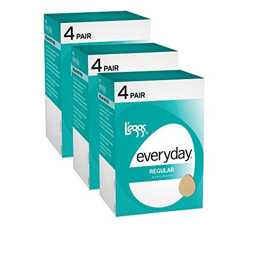 L'eggs Women`s Set of 3 L`eggs Everyday Regular ST - Best-Seller! Q, Nude