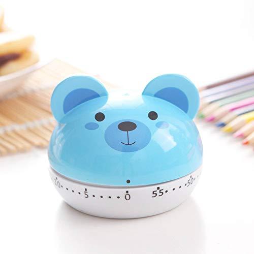 AOTUO Nuevo cronómetro de dibujos animados lindo máquina de plástico temporizador 60 min. despertador cronómetro de cocina herramientas de cocina (Blue bear)