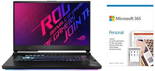 "ASUS ROG Strix G17, 17.3"" FHD 120Hz, Intel Core i7-10750H 10th Gen, GTX 1660Ti 6GB Graphics (16GB RAM/1TB NVMe SSD/Win10/Original Black/2.83 Kg)Microsoft 365 Personal-One Year Subscription Included"