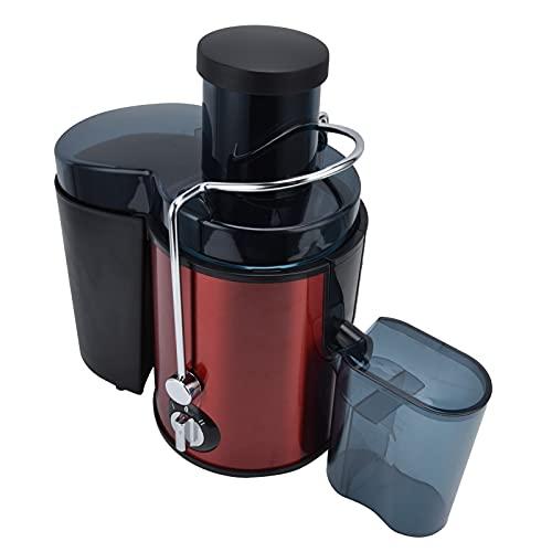 Máquinas Exprimidoras Lentas, Presione la Máquina de Exprimir Centrífuga, Exprimidor de Frutas Eléctrico con Motor de Alta Potencia Extractor Exprimidor de Masticación para el Hogar(EU)