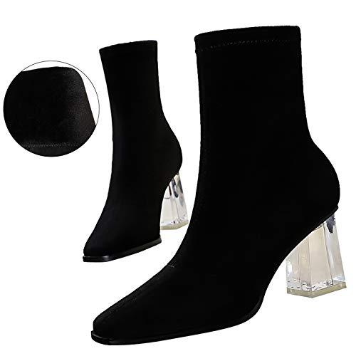 Yhjmdp Botas de tacón Alto, Zapatos de Mujer, Botines...